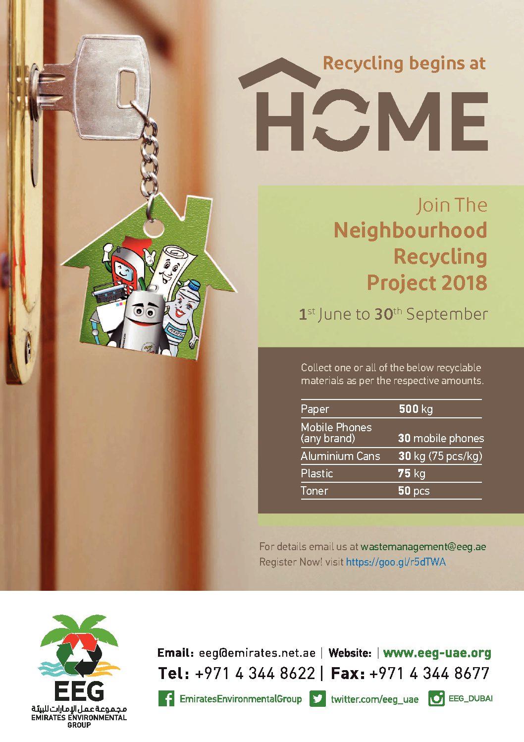 Neighbourhood Recycling Project (NRP) – Emirates